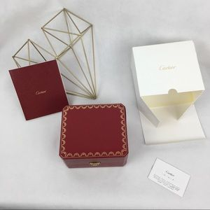 Authentic Cartier Watch Red Presentation Box